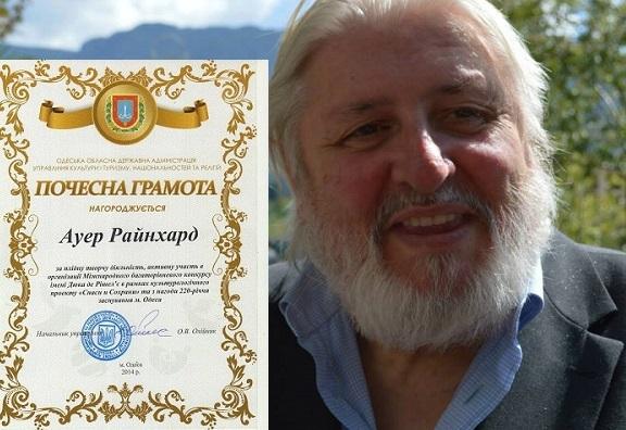 Auszeichnung für Reinhard Auer