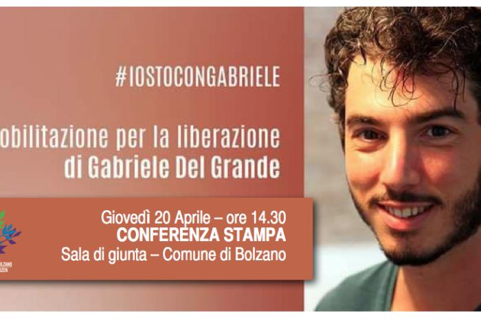Bolzano si mobilita per la liberazione di Gabriele Del Grande.