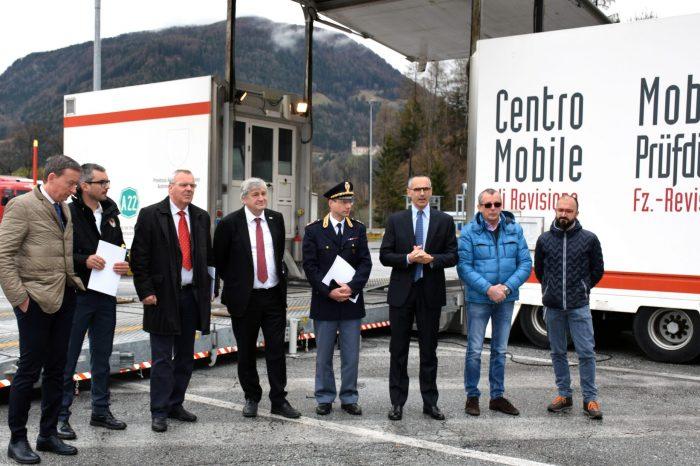 Bolzano.  Centro Mobile di Revisione in Autobrennero individua in tempo reale eventuali infrazioni