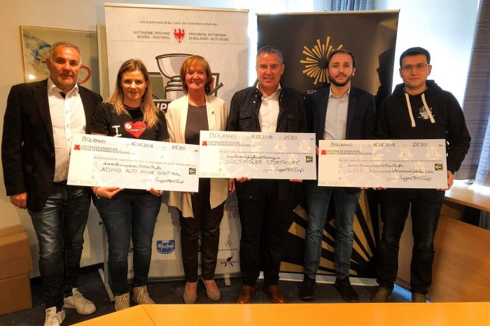 SUPPORTERSCUP sostiene Sporthilfe Alto Adige